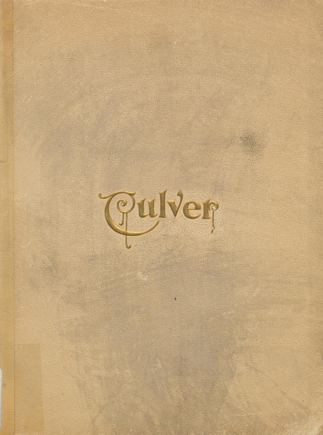 Cover image of Culver Military Academy's yearbook.