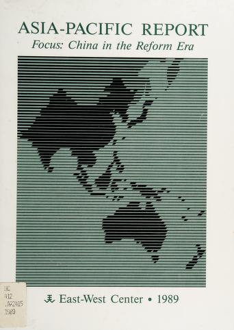 Cover of: Asia-Pacific report | edited by Charles E. Morrison and Robert F. Dernberger