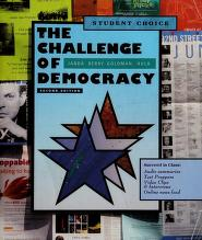 Cover of: The challenge of democracy   Kenneth Janda