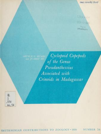 Cover of: Cyclopoid copepods of the genus Pseudanthessius associated with crinoids in Madagascar | Arthur Grover Humes