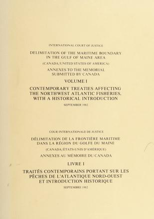Cover of: Delimitation of the maritime boundary in the Gulf of Maine area (Canada/United States of America) = | Canada