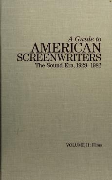Cover of: A guide to American screenwriters | Larry Langman