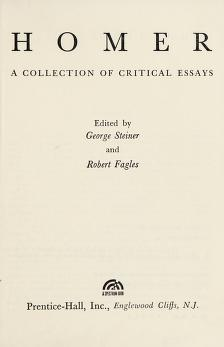 Cover of: Homer | George Steiner
