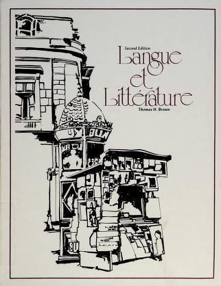 Cover of: Langue et littérature | Thomas Harold Brown