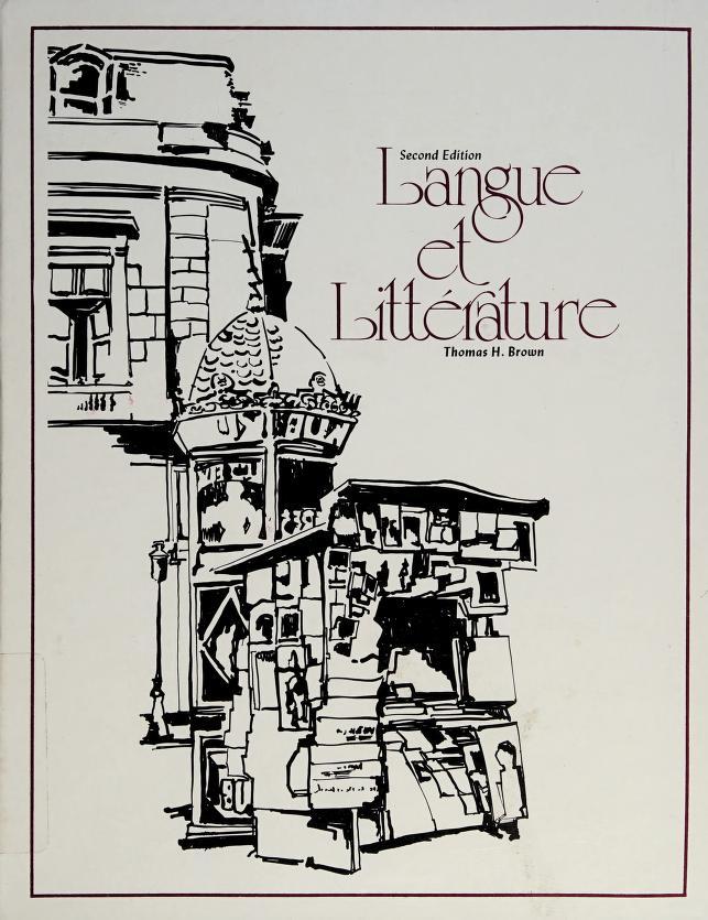 Langue et littérature by Thomas Harold Brown
