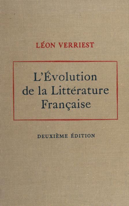 L' évolution de la littérature française by Léon Verriest