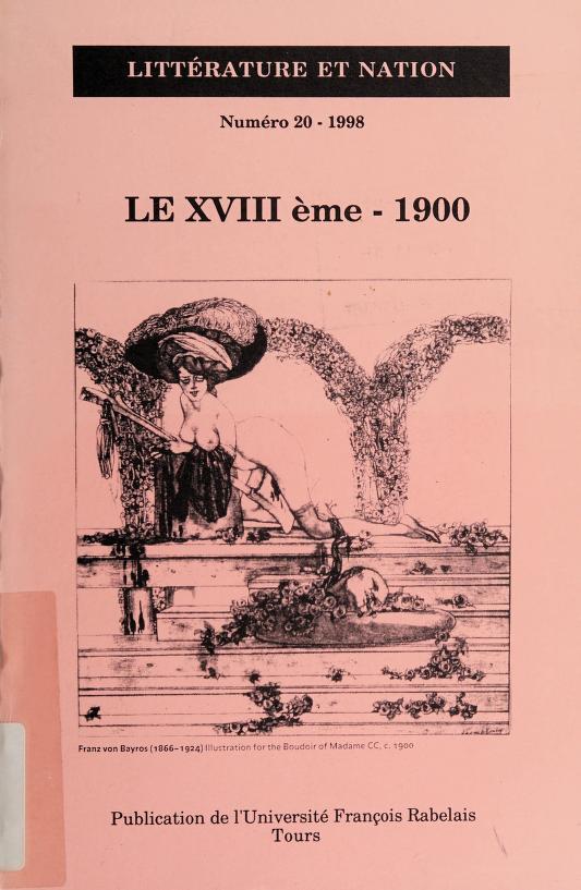 Le XVIIIème, 1900 by Jean-Christophe Abramovici