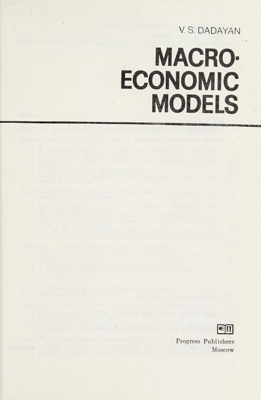 Macro-economic models by V. S. Dadai͡an