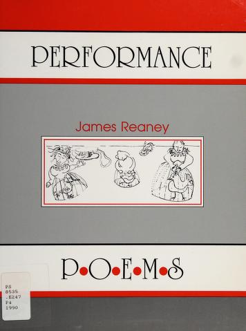 Cover of: Performance | James Reaney