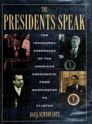 Cover of: The Presidents speak | President of the United States