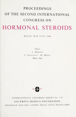 Cover of: Proceedings of the second International Congress on Hormonal Steroids, Milan, May 23-28, 1966 | International Congress on Hormonal Steroids (2nd 1966 Milan, Italy)